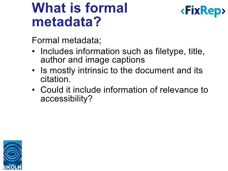 Supporting PDF accessibility evaluation: Early results from the FixRep project Slide 3