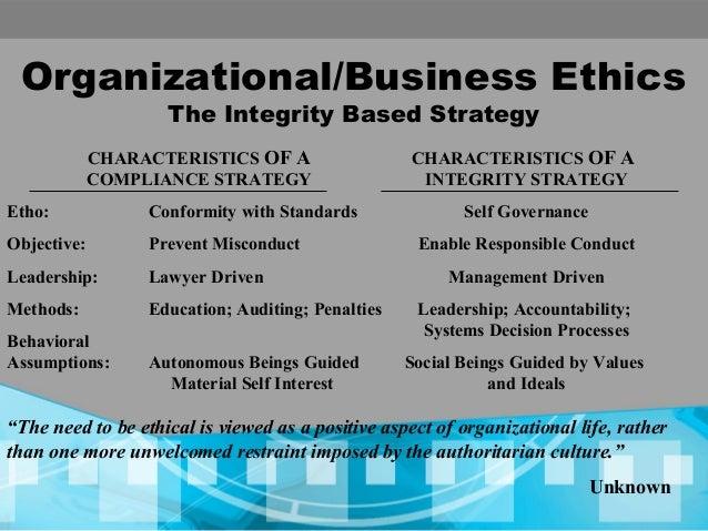ethics in organizational behavior