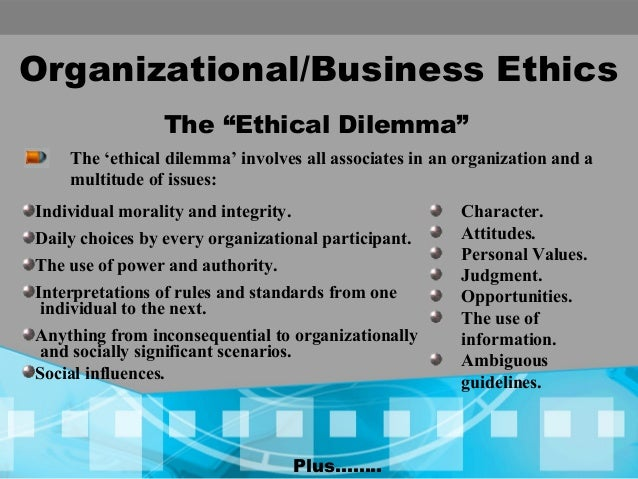 business ethics in organization An article on the importance of business ethics to you, your business, your customers and your employees is it possible to do business both efficiently and ethically.
