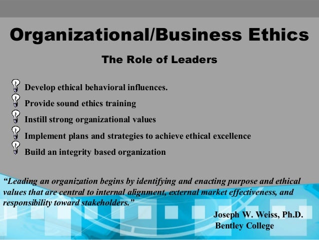 business ethics on organization Organizational ethics are the policies, procedures and culture of doing the right things in the face of difficult and often controversial issues advantages & disadvantages of business ethics why do professional organizations have a code of ethics.