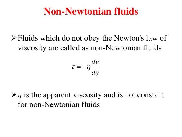 newtonian and non newtonian behaviour of fluids