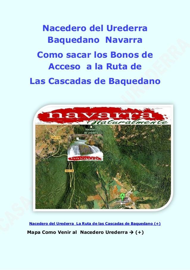 Nacedero del Urederra Baquedano Navarra Como sacar los Bonos de Acceso a la Ruta de Las Cascadas de Baquedano Nacedero del...