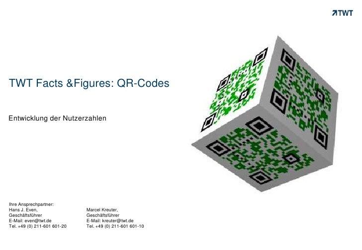 TWT Facts &Figures: QR-Codes<br />Entwicklung der Nutzerzahlen<br />Ihre Ansprechpartner: <br />Hans J. Even, <br />Geschä...