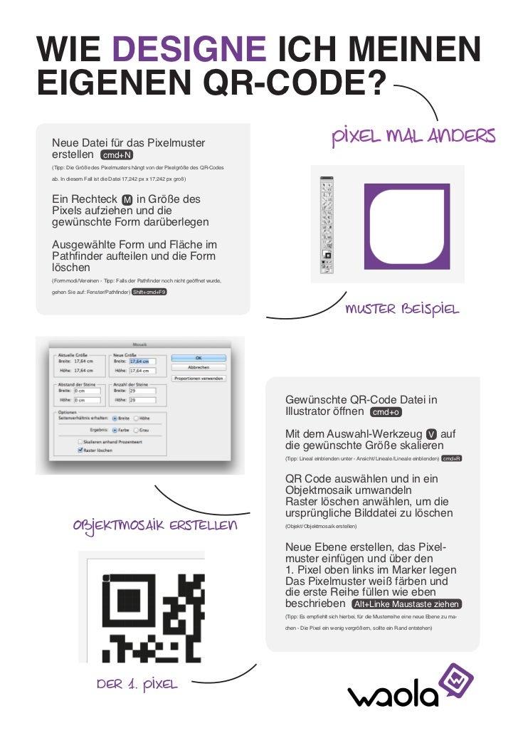 QR-Code-Design: Photoshop-Anleitung individuelle Pixel Slide 2