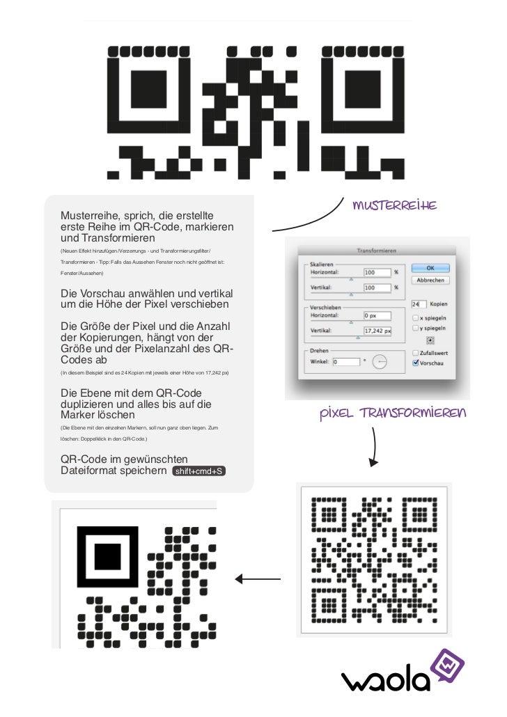 QR-Code-Design: Photoshop-Anleitung individuelle Pixel Slide 3