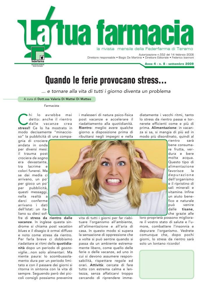la rivista mensile della Federfarma di Teramo                                                                             ...