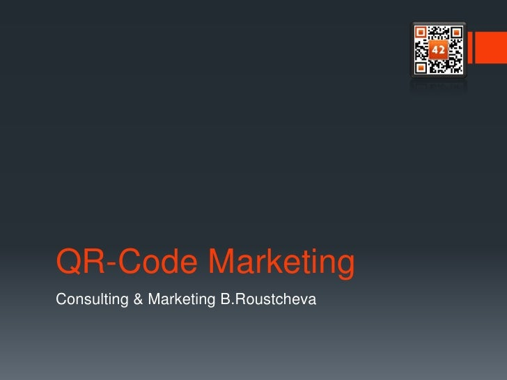 QR-Code MarketingConsulting & Marketing B.Roustcheva