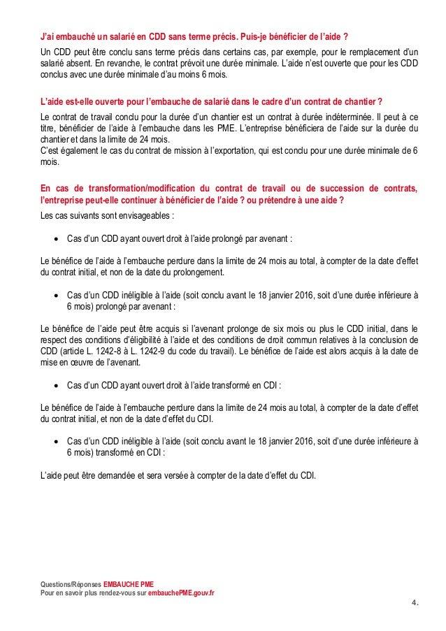 Questions Reponses Aides A L Embauche Pme Mise A Jour Mai 2016