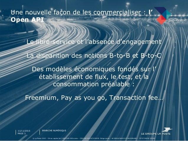 Open Api by La Poste Slide 3