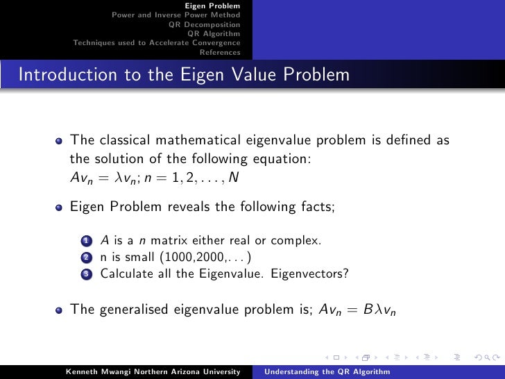 QR Algorithm Presentation Slide 3
