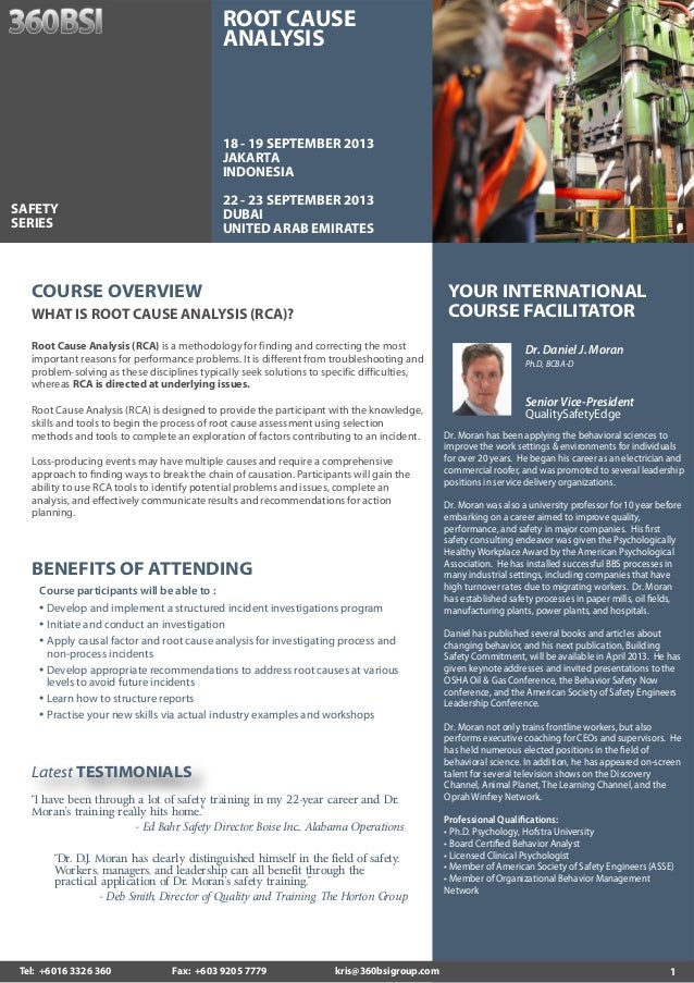 1 YOUR INTERNATIONAL COURSE FACILITATOR Dr. Daniel J. Moran Ph.D, BCBA-D Senior Vice-President QualitySafetyEdge Dr. Moran...
