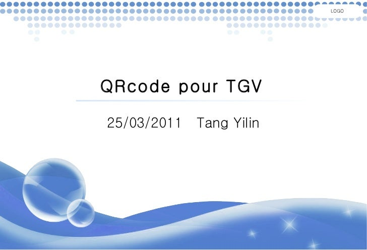 QRcode pour TGV 25/03/2011  Tang Yilin LOGO