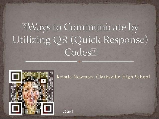 Kristie Newman, Clarksville High School  vCard