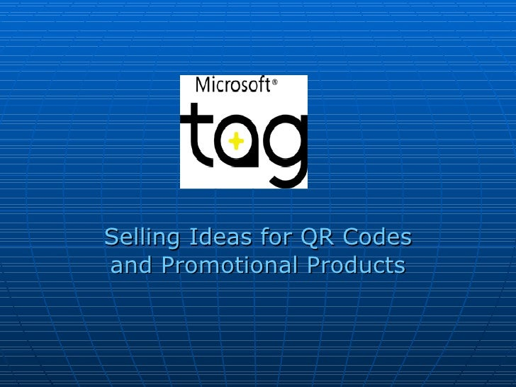 Selling Ideas for QR Codes and Promotional Products