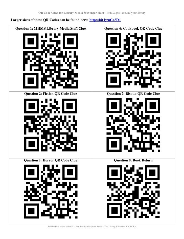 Qr code quest_table - UPDATED! 5/12 Slide 2