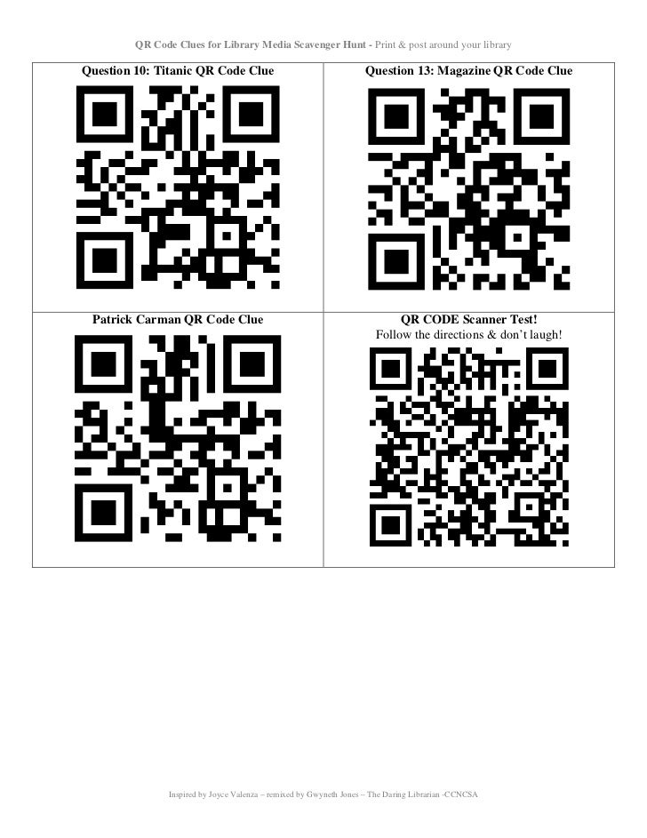 Qr code quest_table - UPDATED! 5/12 Slide 3
