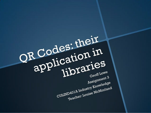 1.A basic definition 1.A History of QR codes 2.How to make a very basic QR code  3.QR codes in the library