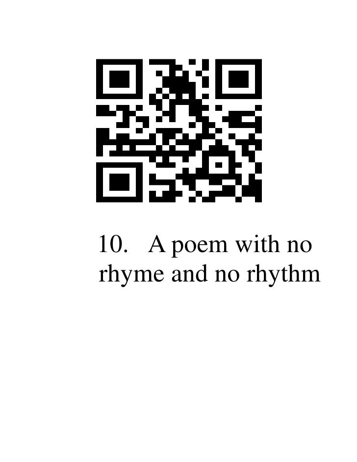 Qr codes for poetic devices