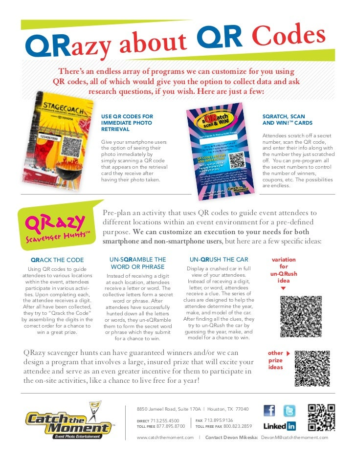 QRazy abo ut QR Codes               There's an endless array of programs we can customize for you using              QR co...