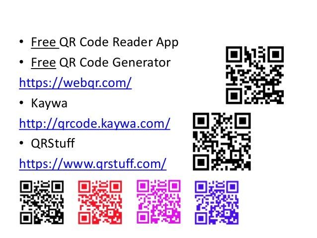 QR Codes online event 28 2 2018