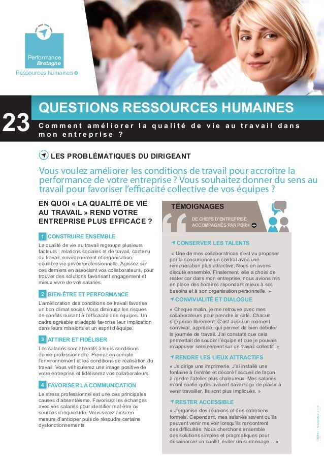 Bretagne  Environnement  Performance Bretagne  Ressources humaines  23  Questions ressources humaines  Performance Bretagn...