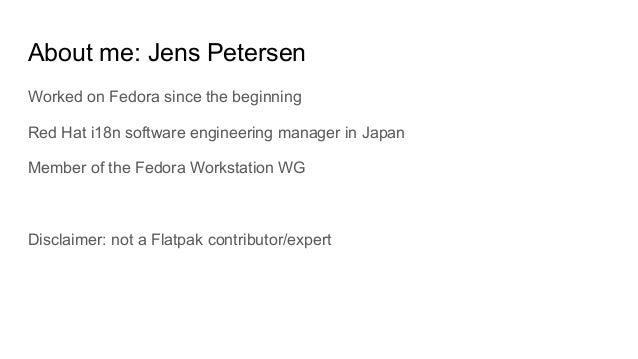 Flatpak introduction Slide 2