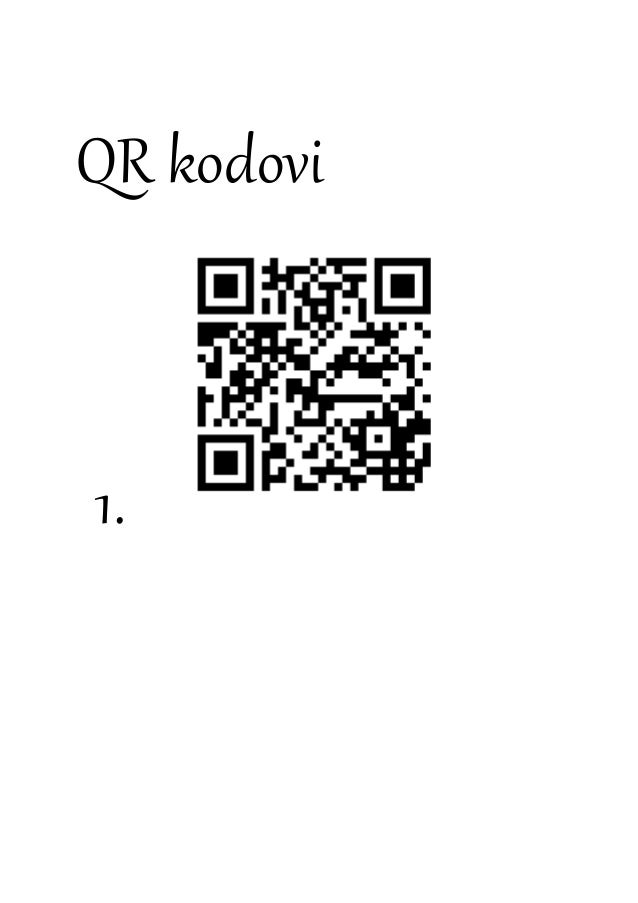 QR kodovi 1.