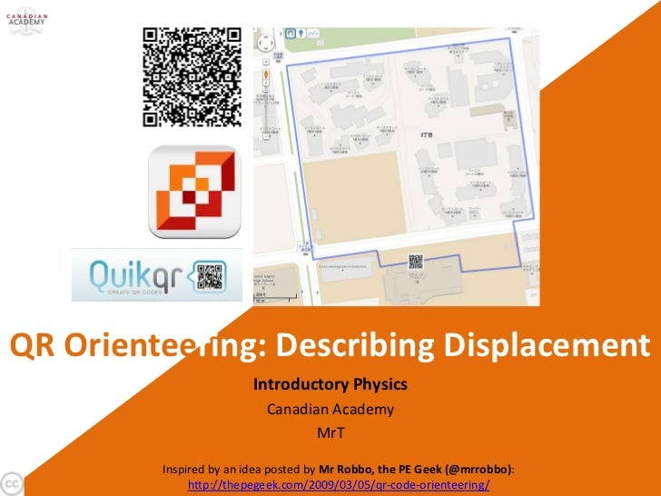 QR Orienteering: Describing Displacement                         Introductory Physics                           Canadian A...