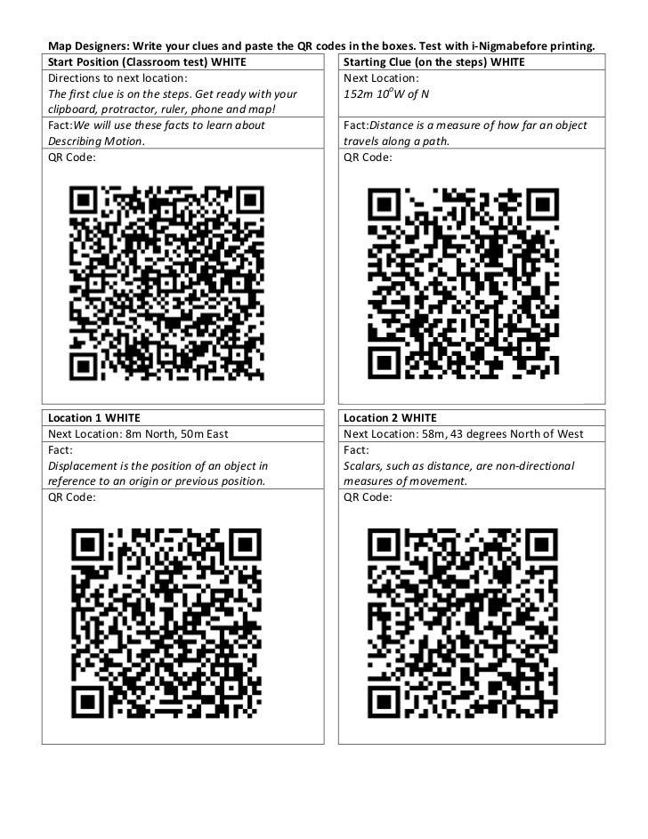 Qr Orienteering: Map and QR Codes Slide 2