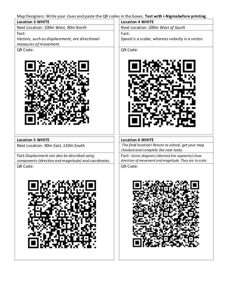 Qr Orienteering: Map and QR Codes Slide 3