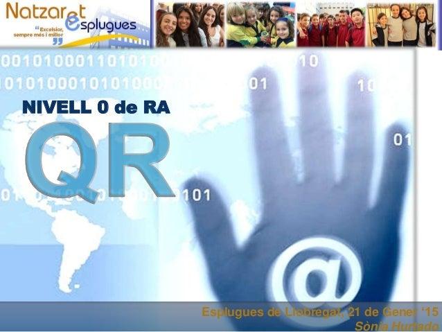 Esplugues de Llobregat, 21 de Gener '15 Sònia Hurtado NIVELL 0 de RA