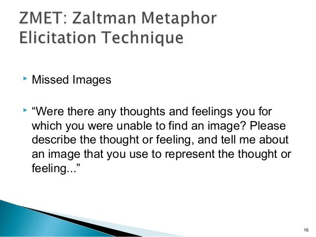 """ Missed Images  """"Were there any thoughts and feelings you for which you were unable to find an image? Please describe th..."""