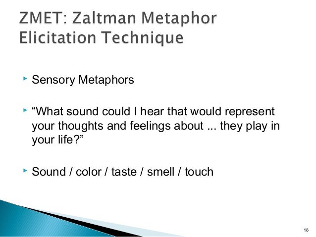 """ Sensory Metaphors  """"What sound could I hear that would represent your thoughts and feelings about ... they play in your..."""
