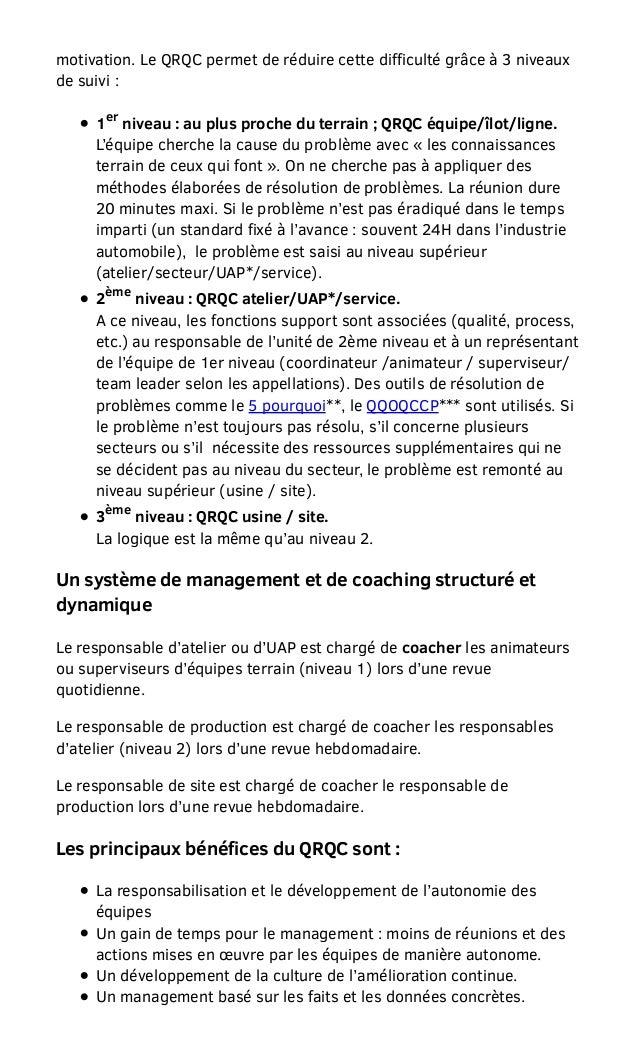 Boubaddara Youssef: QRQC-un mode de management qui permet une réactivité durable Slide 3