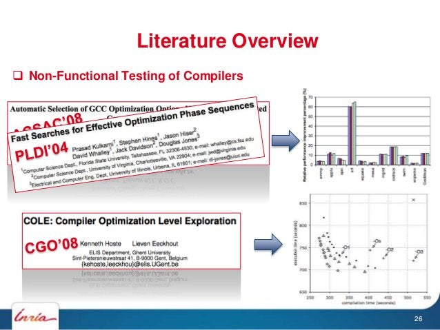  Non-Functional Testing of Compilers Literature Overview 26