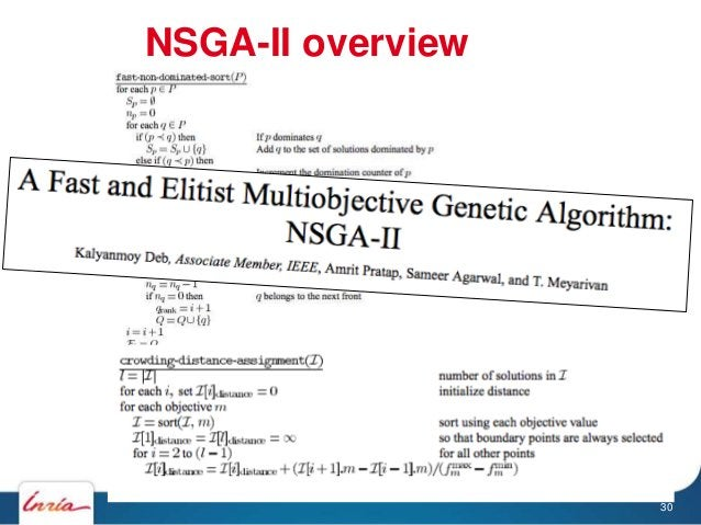 NSGA-II overview 30