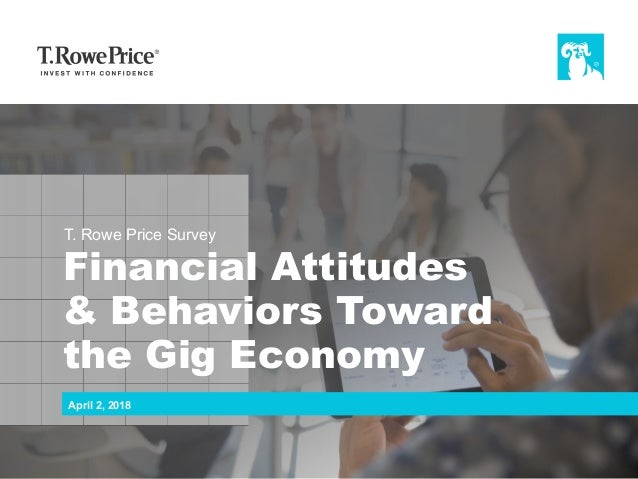 T. Rowe Price Survey Financial Attitudes & Behaviors Toward the Gig Economy April 2, 2018