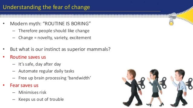 how to engage people reistant to change old routine