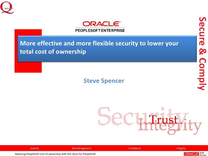 More effective and more flexible security to lower your total cost of ownership (PeopleSoft)