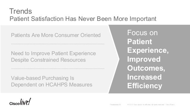 Challenges How to Meet Growing Patient Expectations Increased Transparency of Data Related to Hospital Performance And Pat...