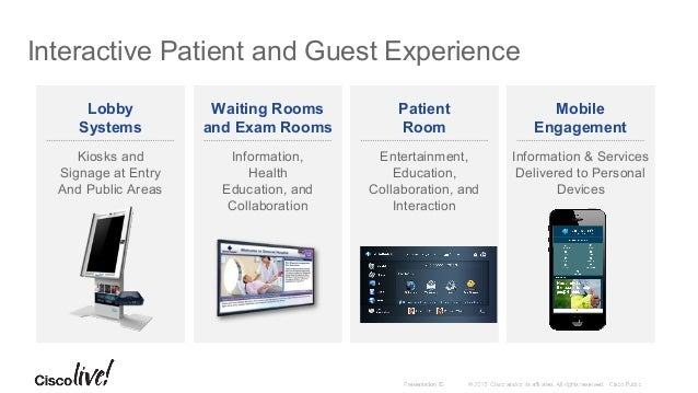 Cisco Patient Connect: Inpatient Room Solution Cisco Patient Connect uses member preference, location, presence, environme...