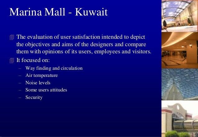 a  Marina Mall - Kuwait Noise and Lighting level measurement:  THE DECIBEL METER  lighting lev el  Daytime (lux) Night (lu...