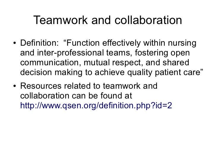teamwork examples