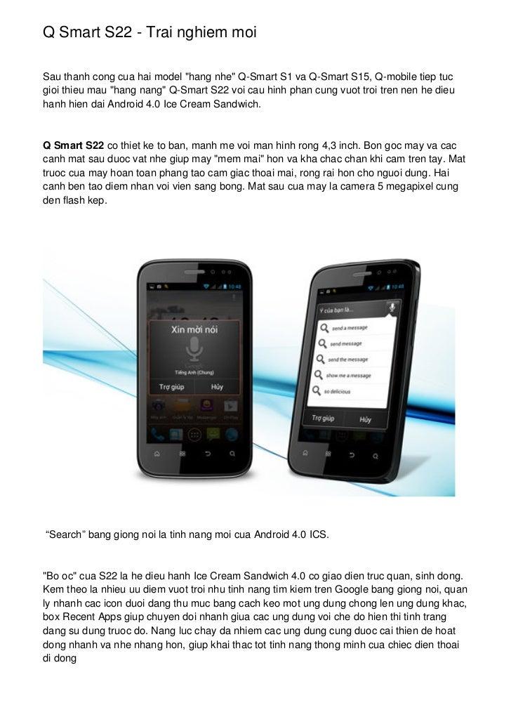"""Q Smart S22 - Trai nghiem moiSau thanh cong cua hai model """"hang nhe"""" Q-Smart S1 va Q-Smart S15, Q-mobile tiep tucgioi thie..."""