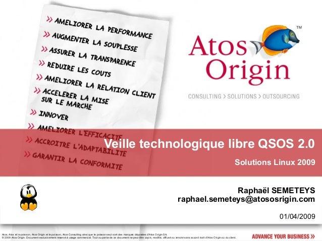 Veille technologique libre QSOS 2.0                                                                                       ...