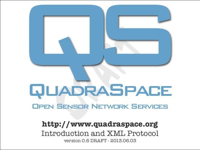 QS                T       AF QuadraSpace DR Open Sensor Network Services   http://www.quadraspace.org   Introduction and X...