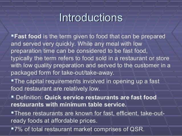 Ready Prepared Food Service Definition