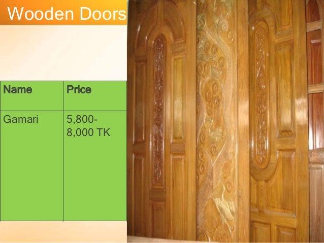 Wooden Doors Name Price Gamari 58008000 TK ... & Presentation on Door and Window