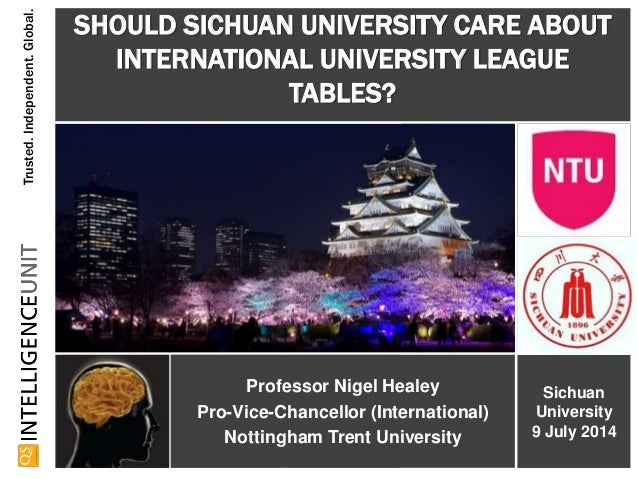 Trusted.Independent.Global. Professor Nigel Healey Pro-Vice-Chancellor (International) Nottingham Trent University SHOULD ...