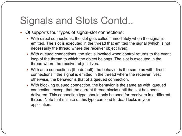 Qt signals slots events